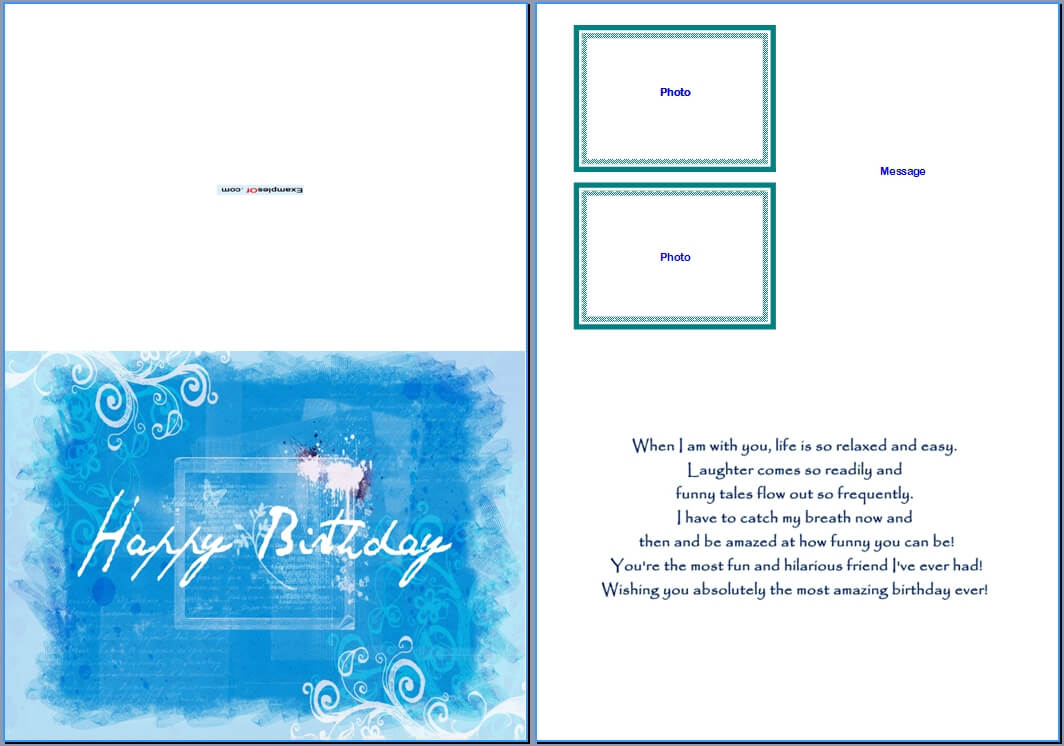 19 Birthday Card Templates For Word Images – Free Birthday Throughout Free Blank Greeting Card Templates For Word