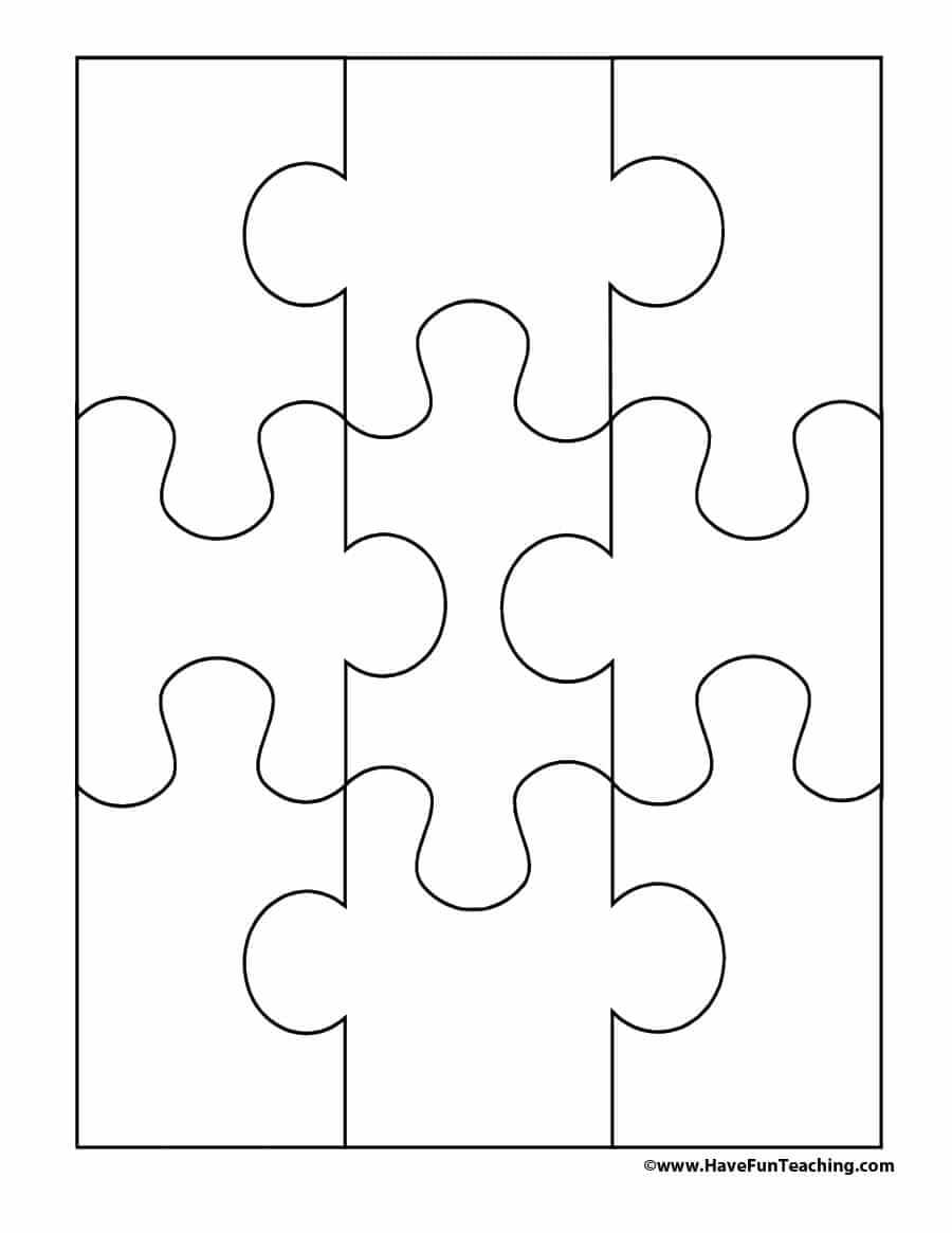 19 Printable Puzzle Piece Templates ᐅ Template Lab Within Blank Jigsaw Piece Template