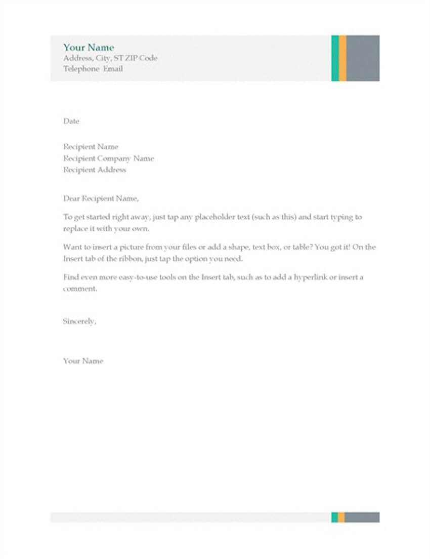 20 Best Free Microsoft Word Corporate Letterhead Templates Pertaining To Microsoft Word Business Letter Template