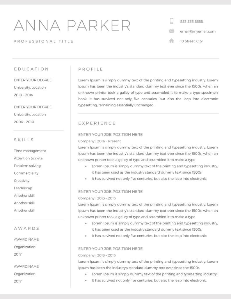20+ Free And Premium Word Resume Templates [Download] With Regard To Microsoft Word Resumes Templates