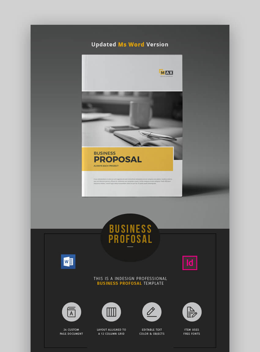 20 Ms Word Business Proposal Templates To Make Deals In 2019 Within Free Business Proposal Template Ms Word