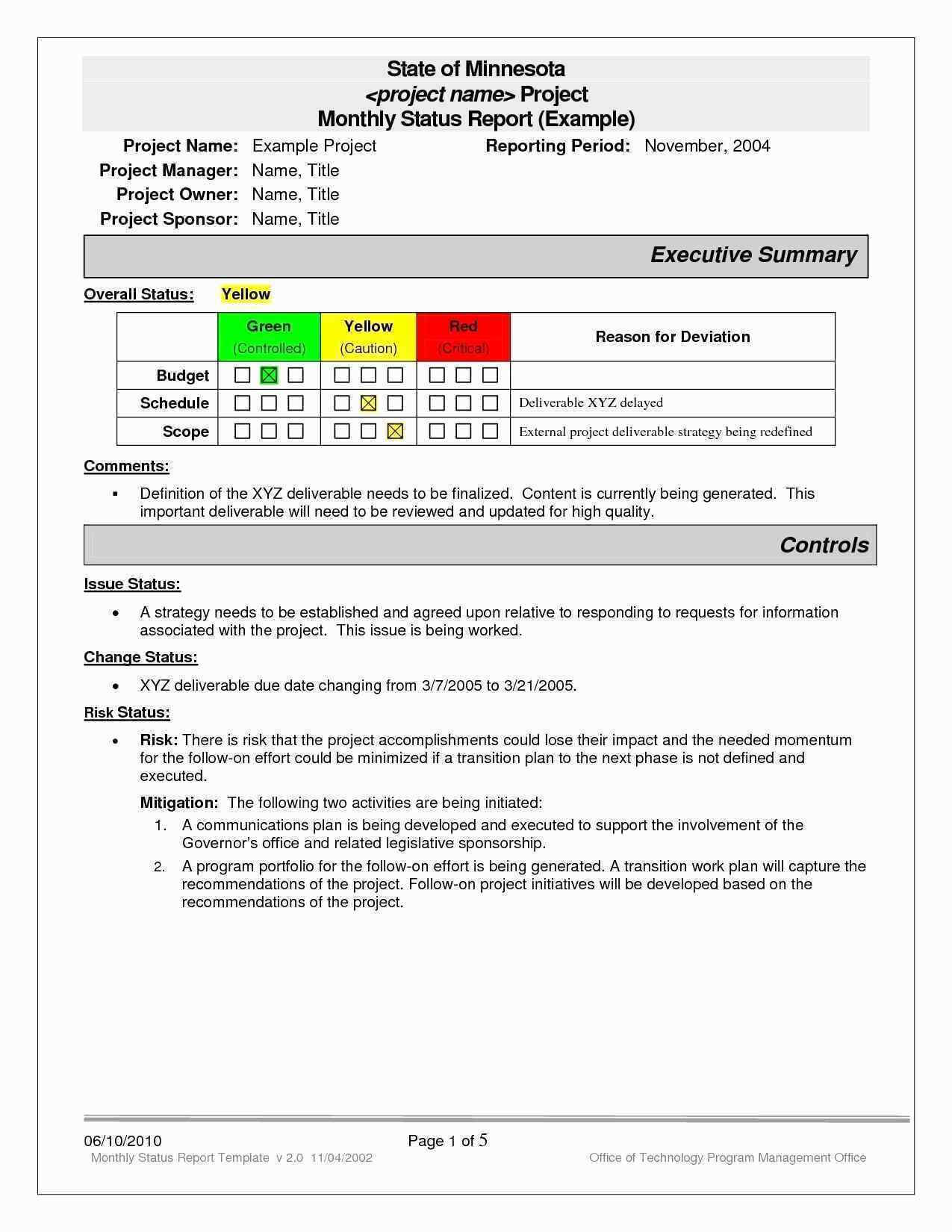 20Project Status Executive Summary Template Beautiful Report Pertaining To Executive Summary Report Template