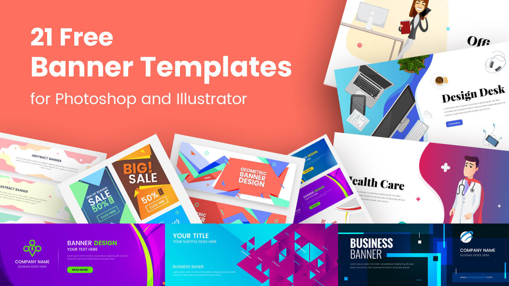 21 Free Banner Templates For Photoshop And Illustrator Regarding Banner Template For Photoshop