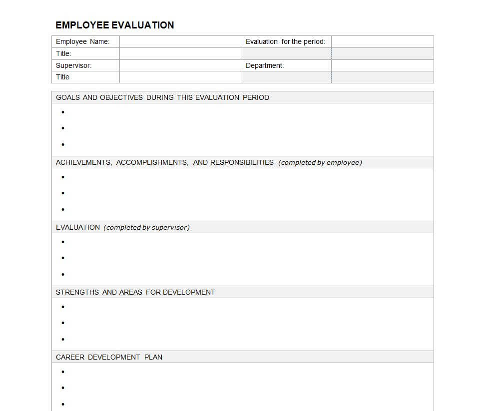 23 Images Of Evaluation Outline Template Blank | Masorler Throughout Blank Evaluation Form Template