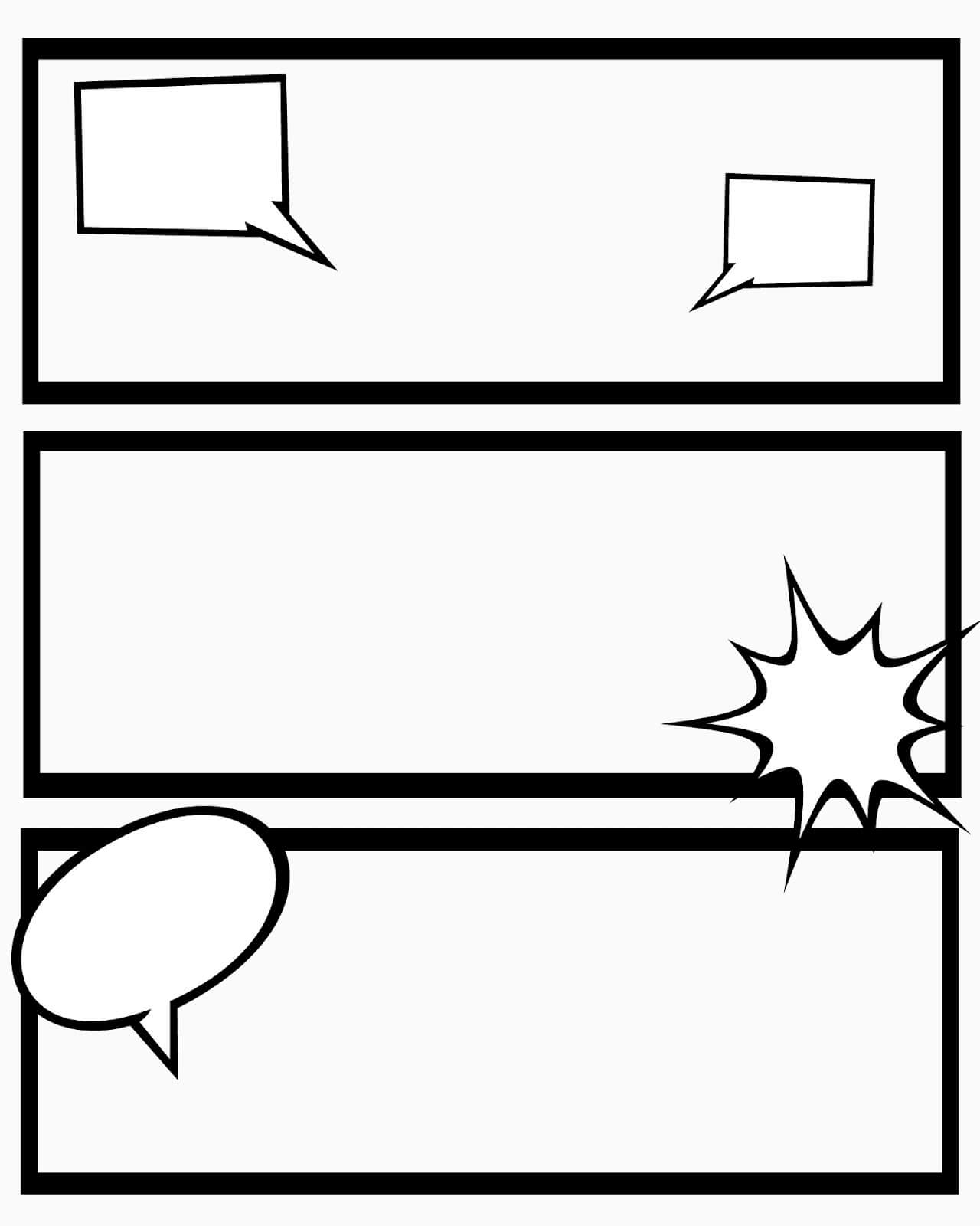 24 Images Of 8 Box Comic Strip Template With Blank Captions Intended For Printable Blank Comic Strip Template For Kids