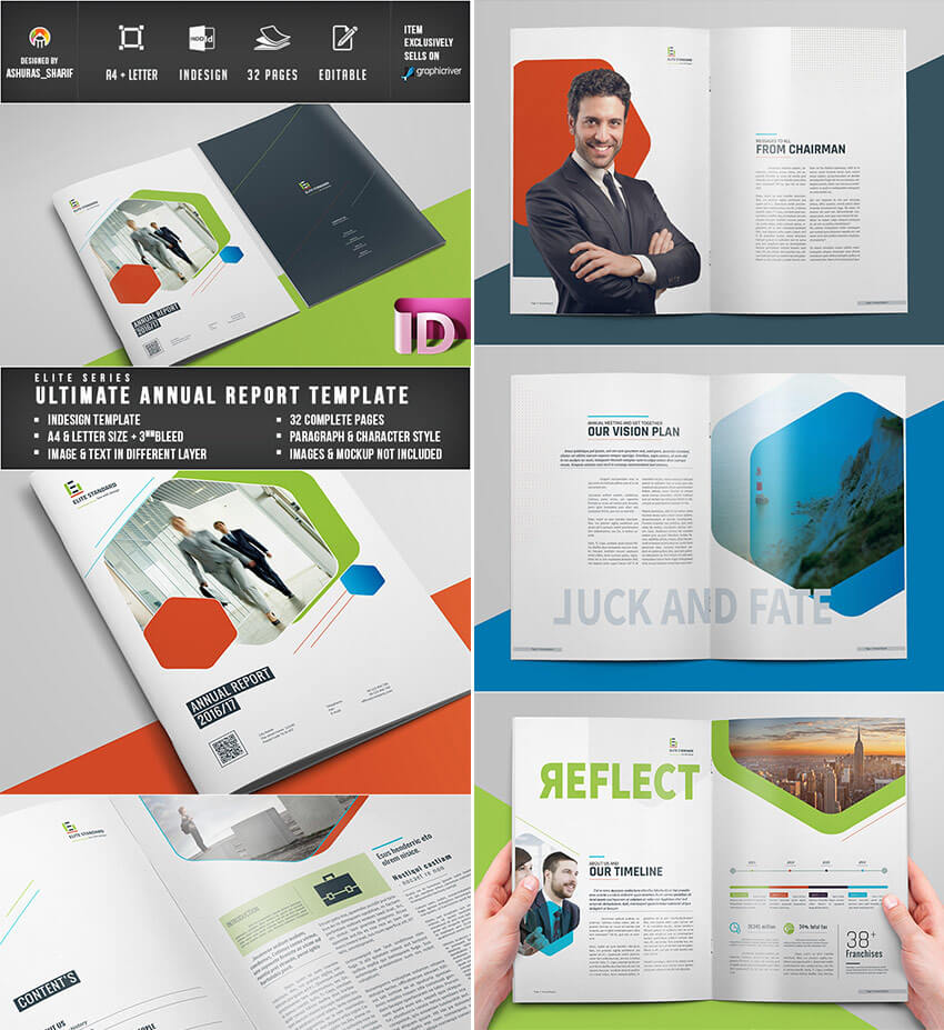25+ Best Annual Report Templates - With Creative Indesign For Chairman's Annual Report Template