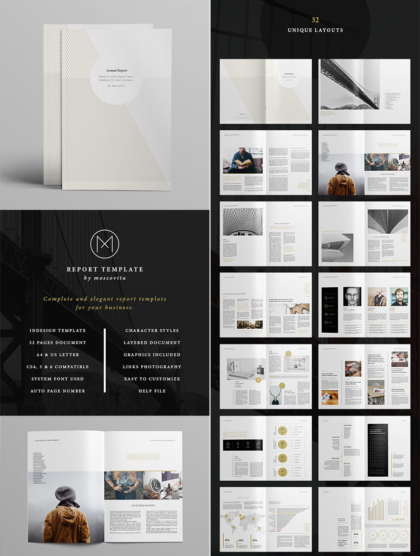 25+ Best Annual Report Templates - With Creative Indesign With Regard To Free Indesign Report Templates
