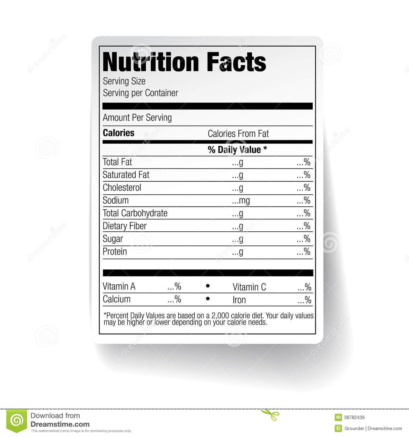 25 Images Of Empty Nutrition Label Template | Vanscapital With Regard To Blank Food Label Template