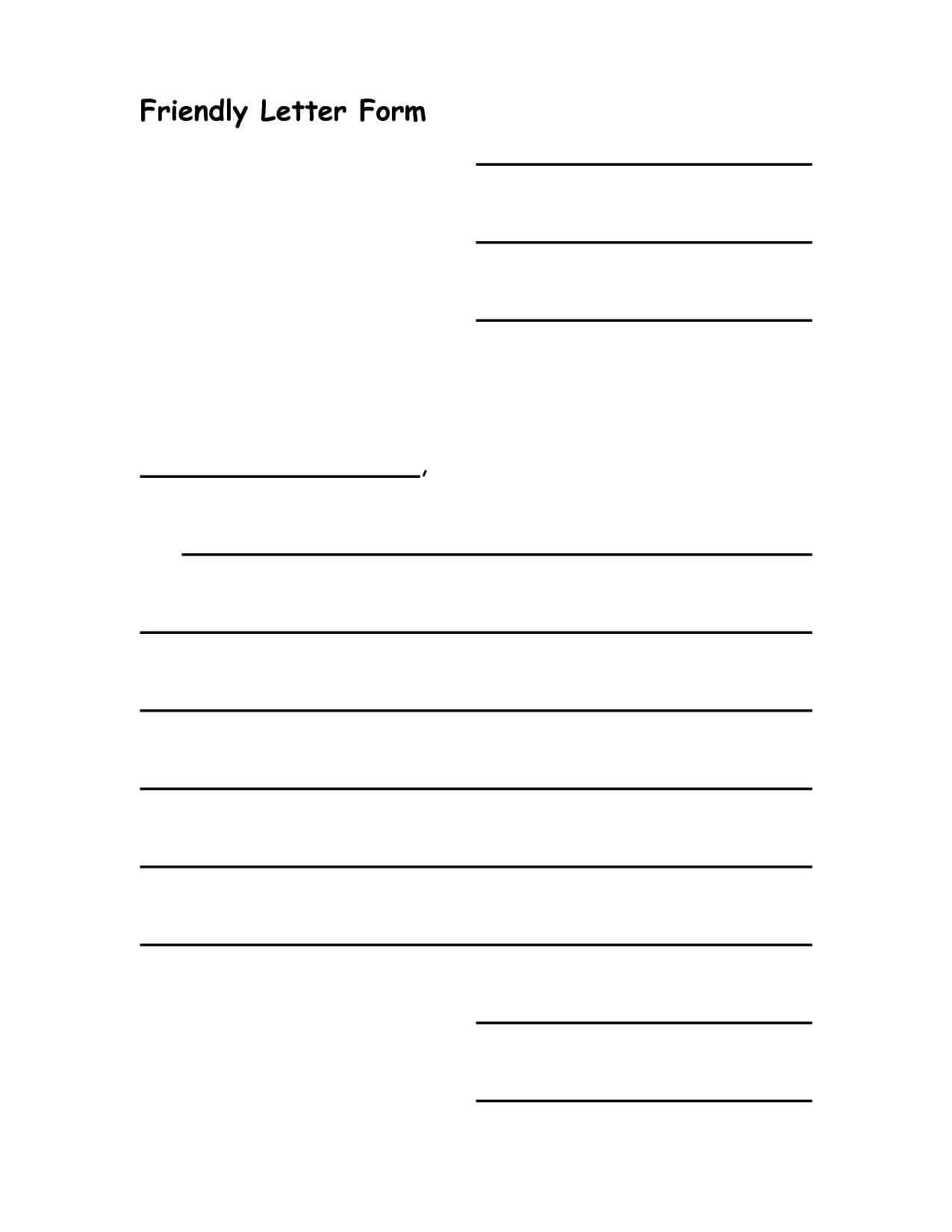 This is a picture of Letter Template for Kids regarding design