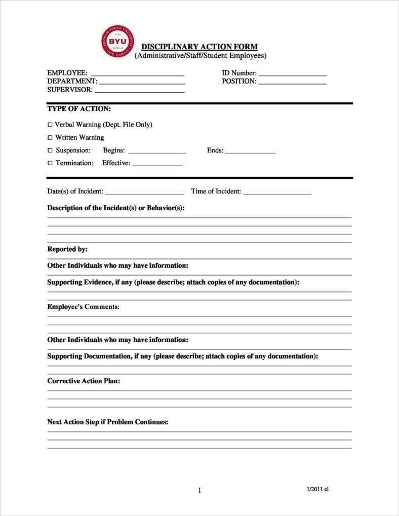 3+ Disciplinary Report Templates – Pdf   Free & Premium With Regard To Investigation Report Template Disciplinary Hearing
