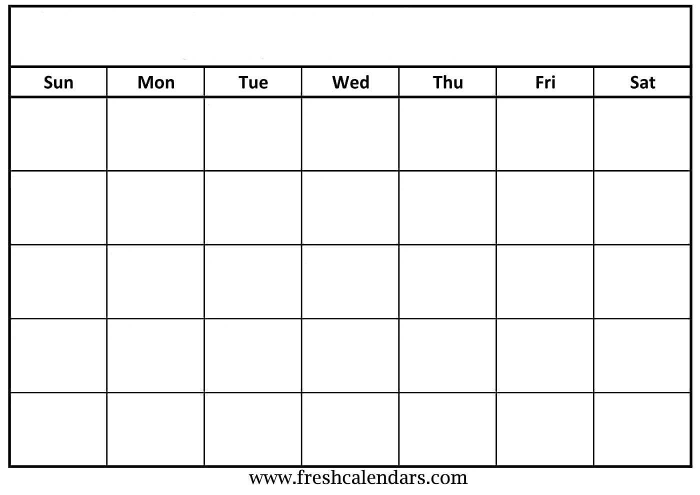 30 Blank Calendar Template 2019   Andaluzseattle Template Inside Blank Calender Template