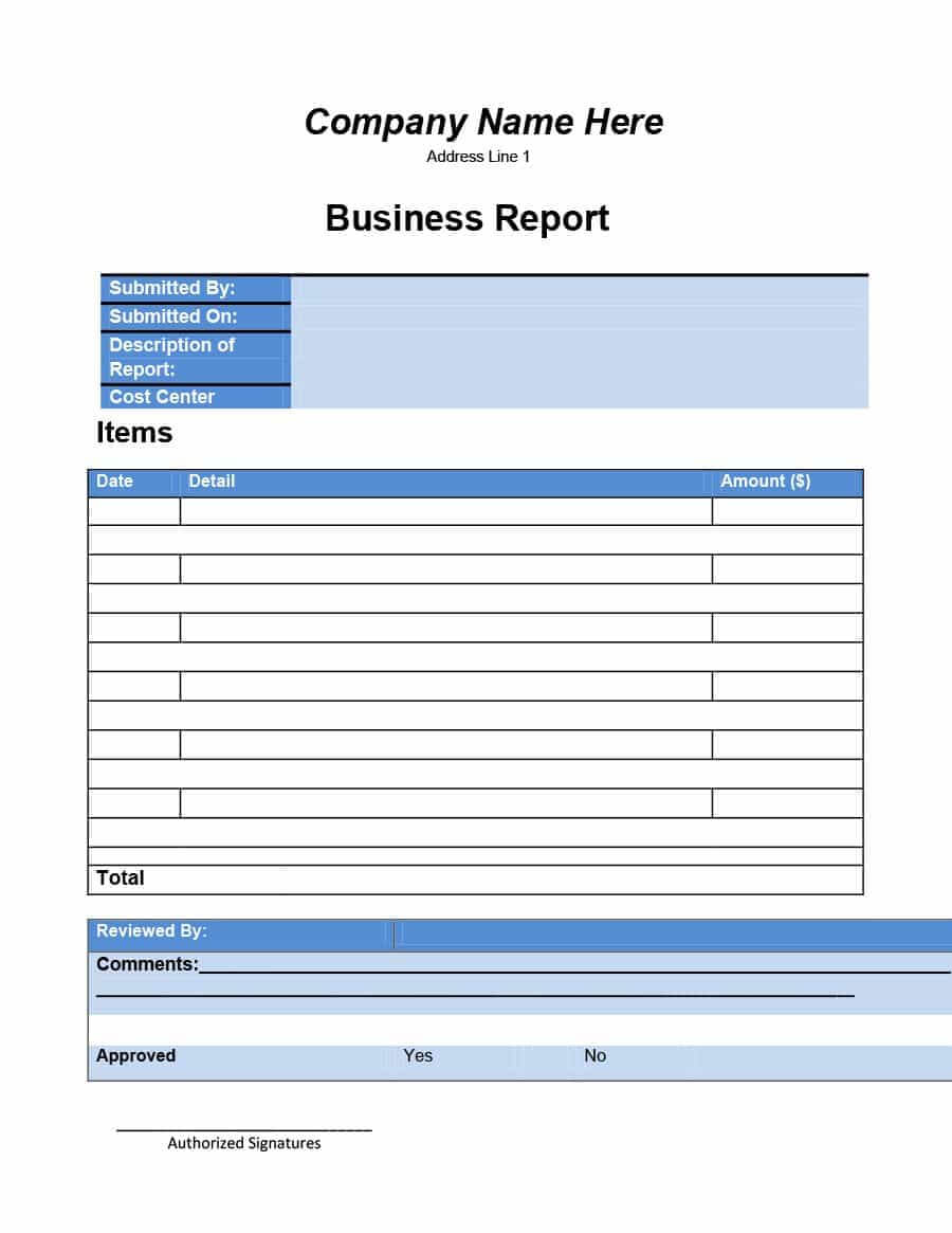 30+ Business Report Templates & Format Examples ᐅ Template Lab Within Business Review Report Template