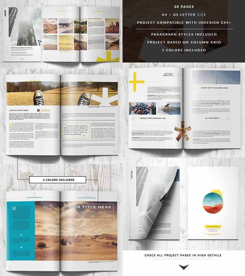 30 Magazine Templates With Creative Print Layout Designs Pertaining To Magazine Template For Microsoft Word