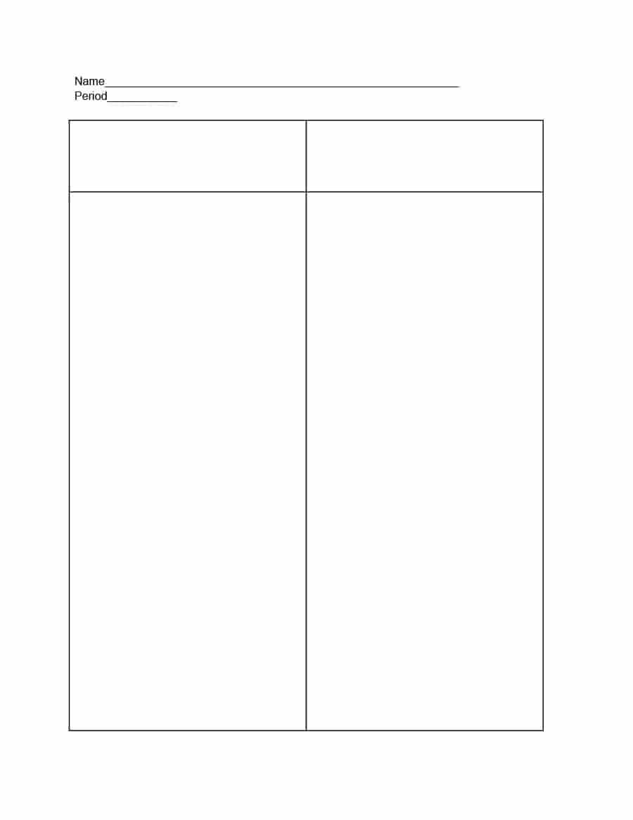 30 Printable T Chart Templates & Examples - Template Archive Inside T Chart Template For Word