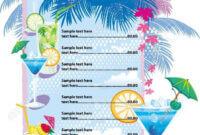 32+ Bar Menu Designs   Free & Premium Templates intended for Cocktail Menu Template Word Free