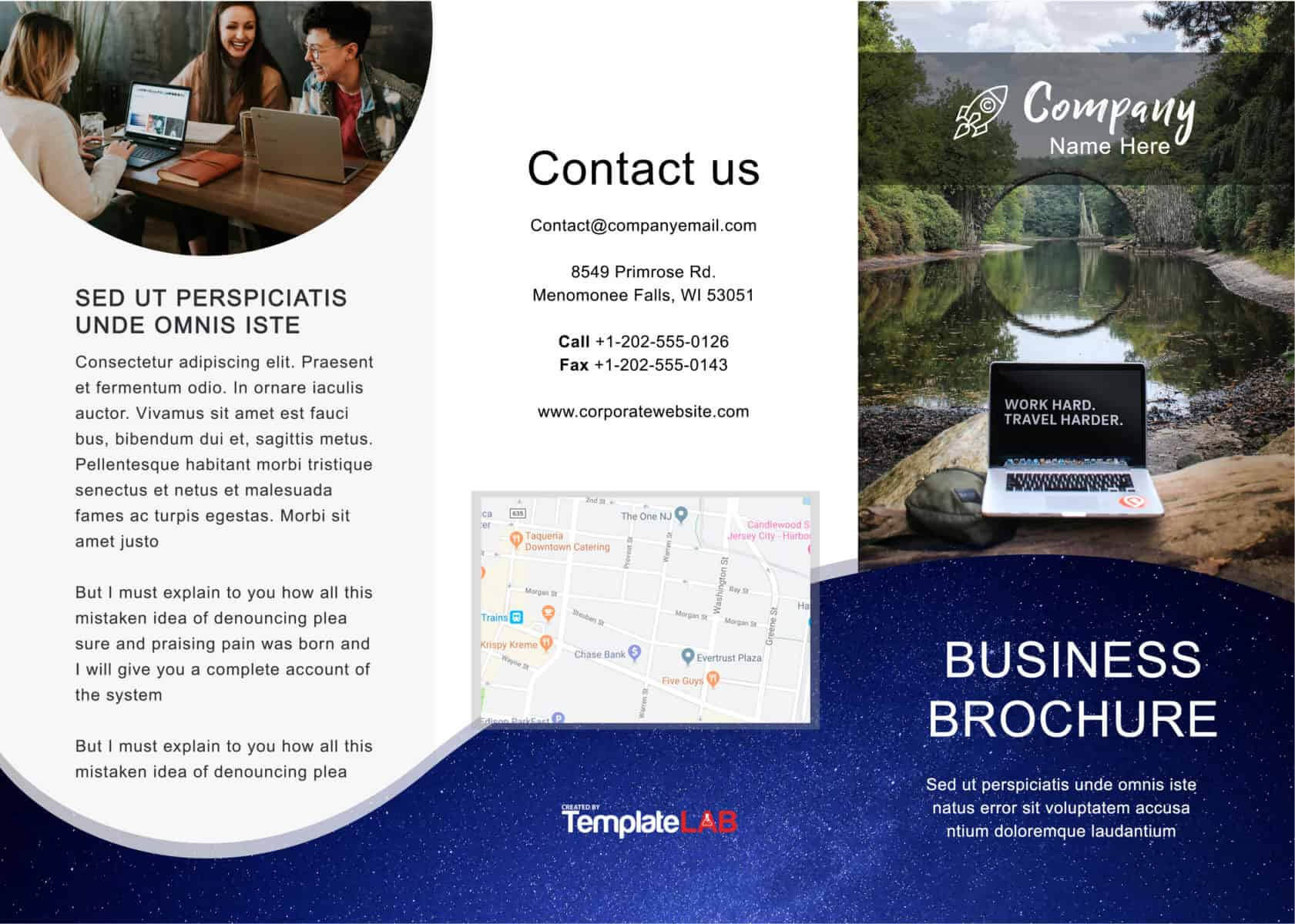 33 Free Brochure Templates (Word + Pdf) ᐅ Template Lab In Microsoft Word Pamphlet Template