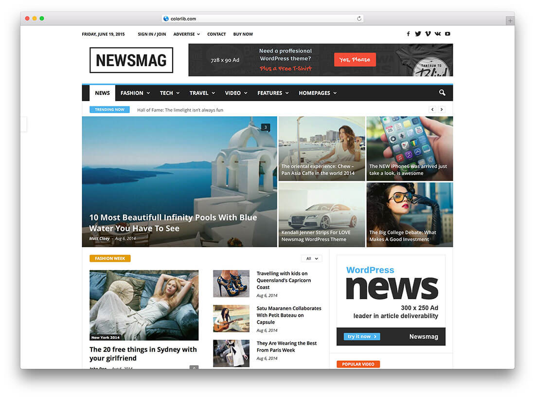 34 Best WordPress Newspaper Themes For News Sites 2020 For Magazine Ad Template Word