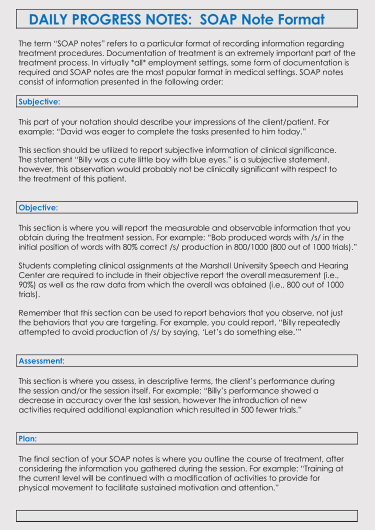 35+ Soap Note Examples (Blank Formats & Writing Tips) Intended For Soap Note Template Word