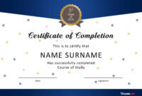 40 Fantastic Certificate Of Completion Templates [Word pertaining to Graduation Certificate Template Word