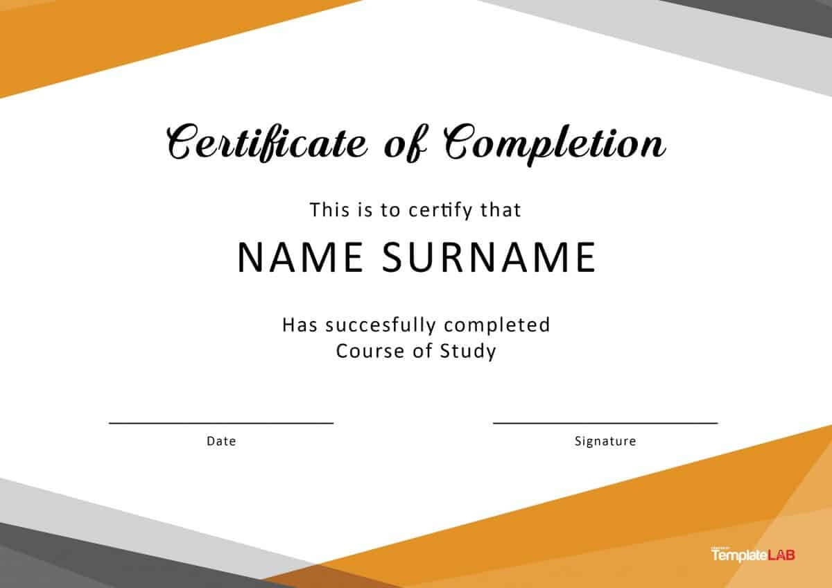 40 Fantastic Certificate Of Completion Templates [Word Within Training Certificate Template Word Format