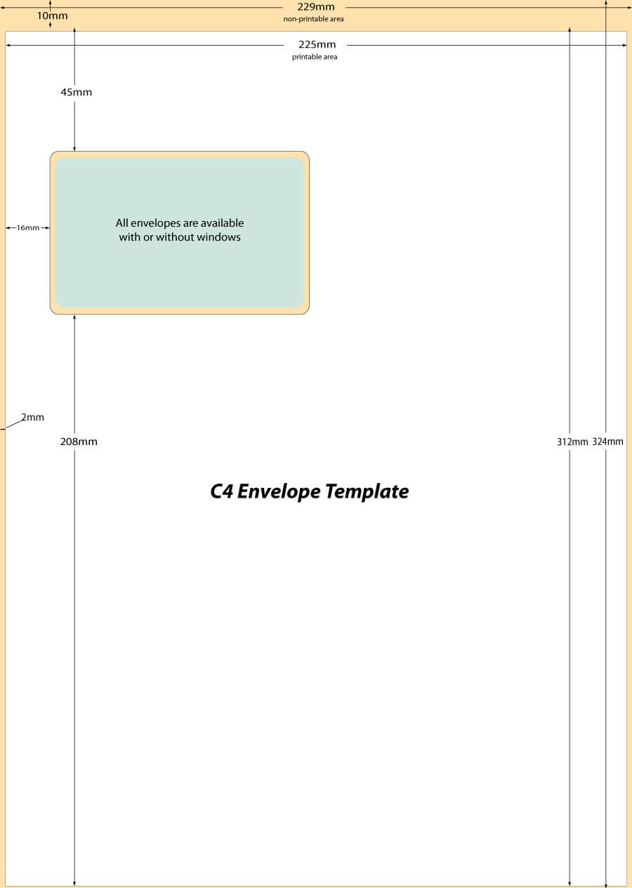 40+ Free Envelope Templates (Word + Pdf) ᐅ Template Lab For Word 2013 Envelope Template