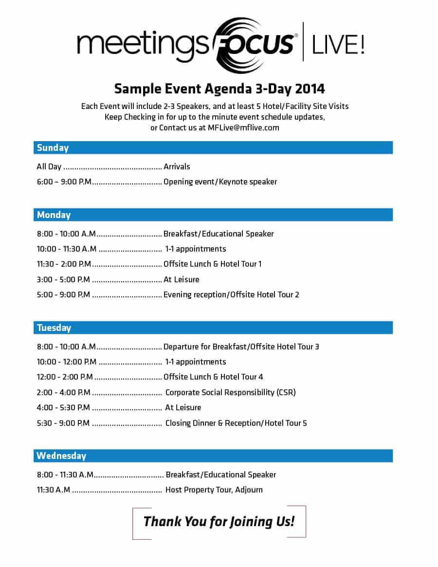 40+ Free Event Program Templates / Designs - Template Archive Throughout Event Agenda Template Word