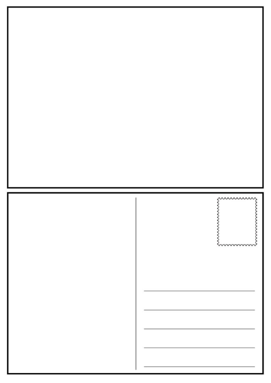 40+ Great Postcard Templates & Designs [Word + Pdf] ᐅ In Free Blank Postcard Template For Word