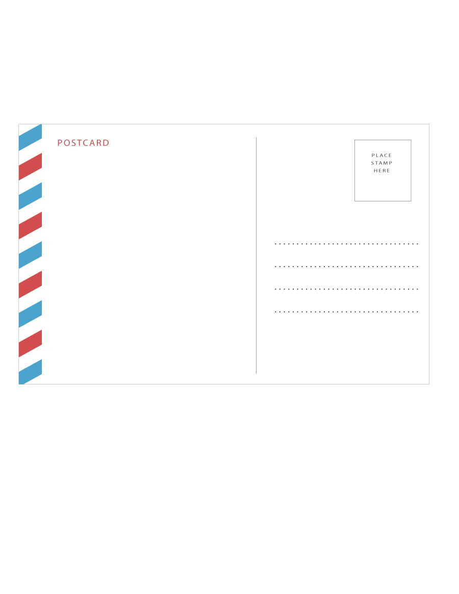 40+ Great Postcard Templates & Designs [Word + Pdf] ᐅ With Postcard Size Template Word