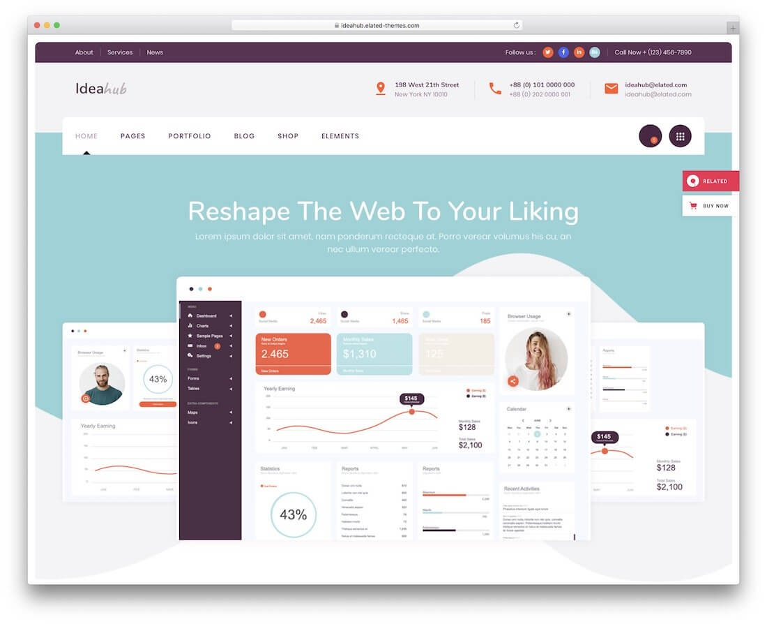 41 Best Free Website Templates For A Trendy Web Space 2019 With Blank Food Web Template