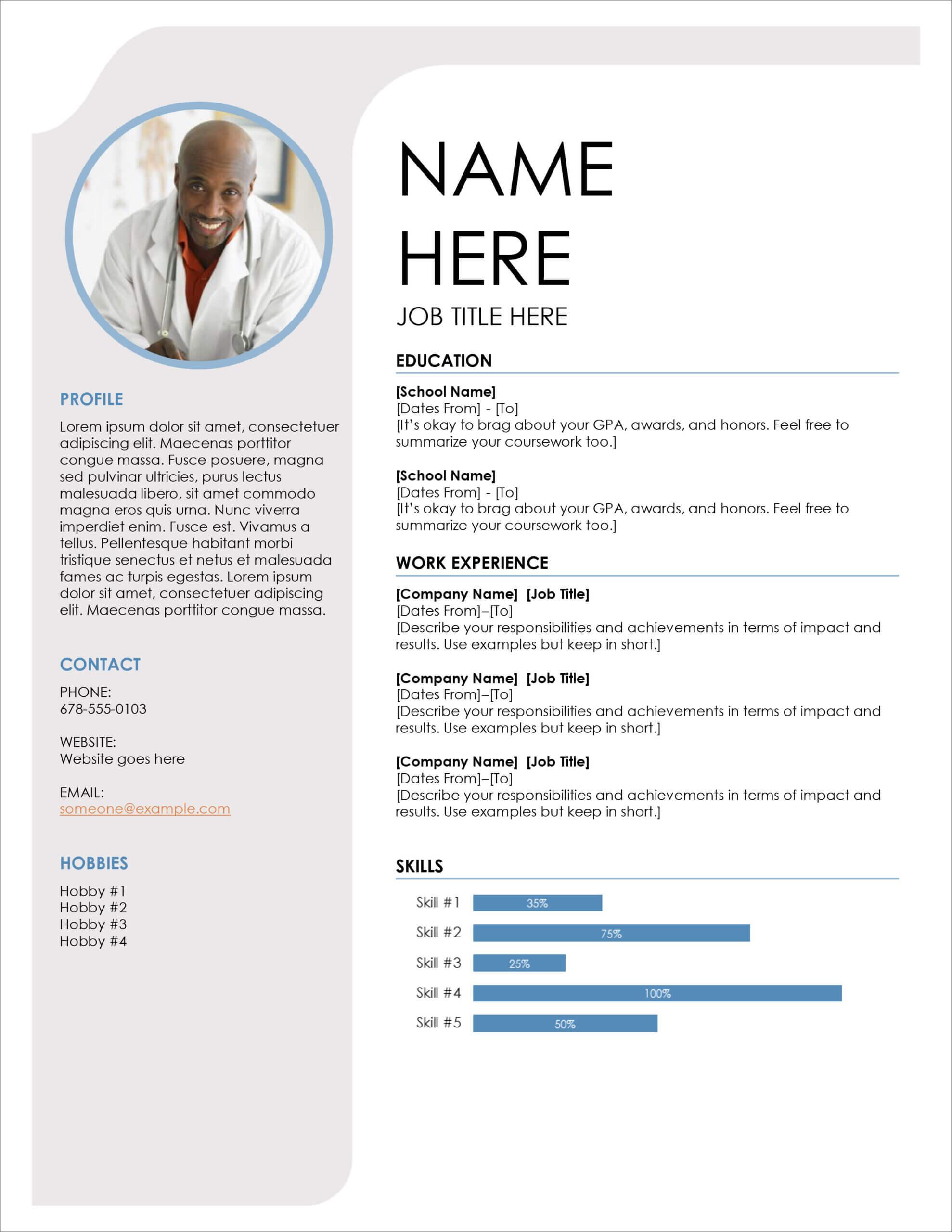 45 Free Modern Resume / Cv Templates – Minimalist, Simple Regarding Resume Templates Word 2013