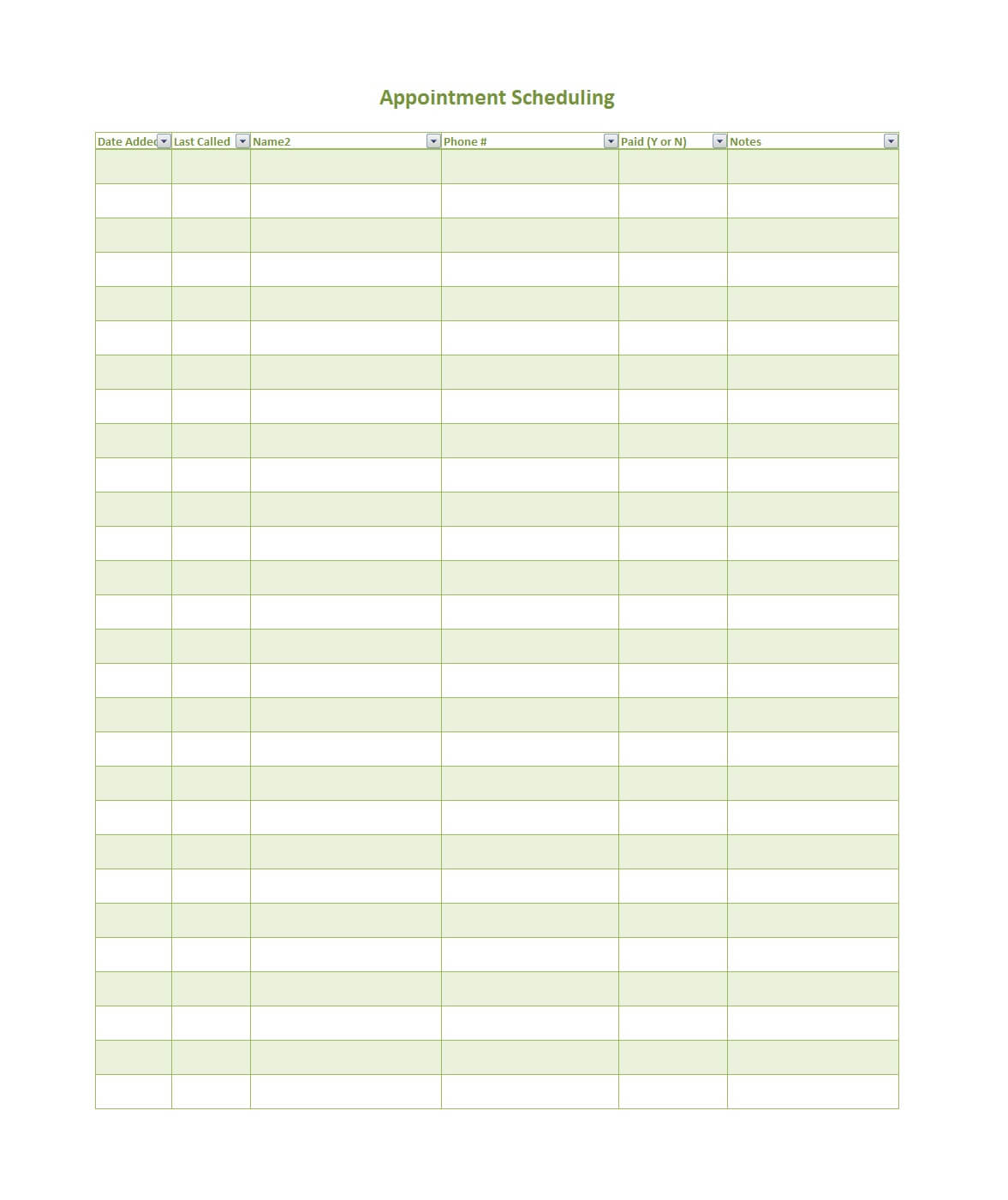 45 Printable Appointment Schedule Templates [& Appointment With Appointment Sheet Template Word