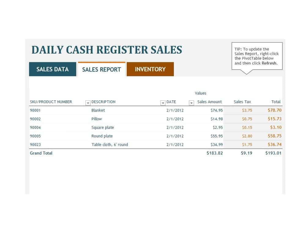 45 Sales Report Templates [Daily, Weekly, Monthly Salesman Pertaining To Free Daily Sales Report Excel Template