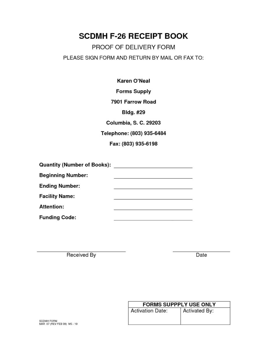5 Proof Of Delivery Templates | Free Sample Templates Inside Proof Of Delivery Template Word