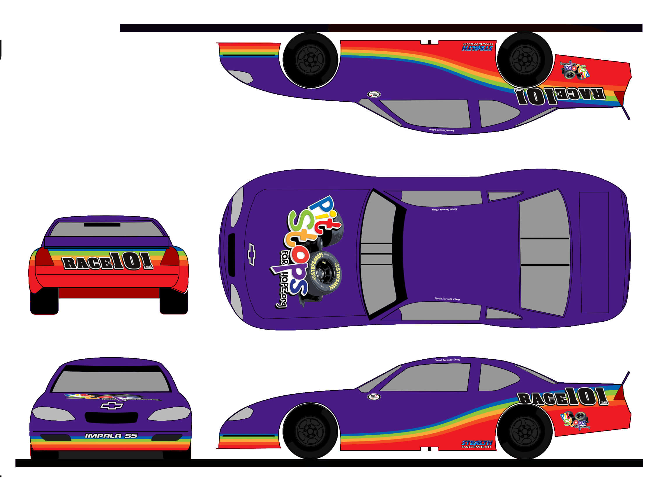 5 Steps To Create A Paint Scheme Mockup | The Colors Of The Race Inside Blank Race Car Templates