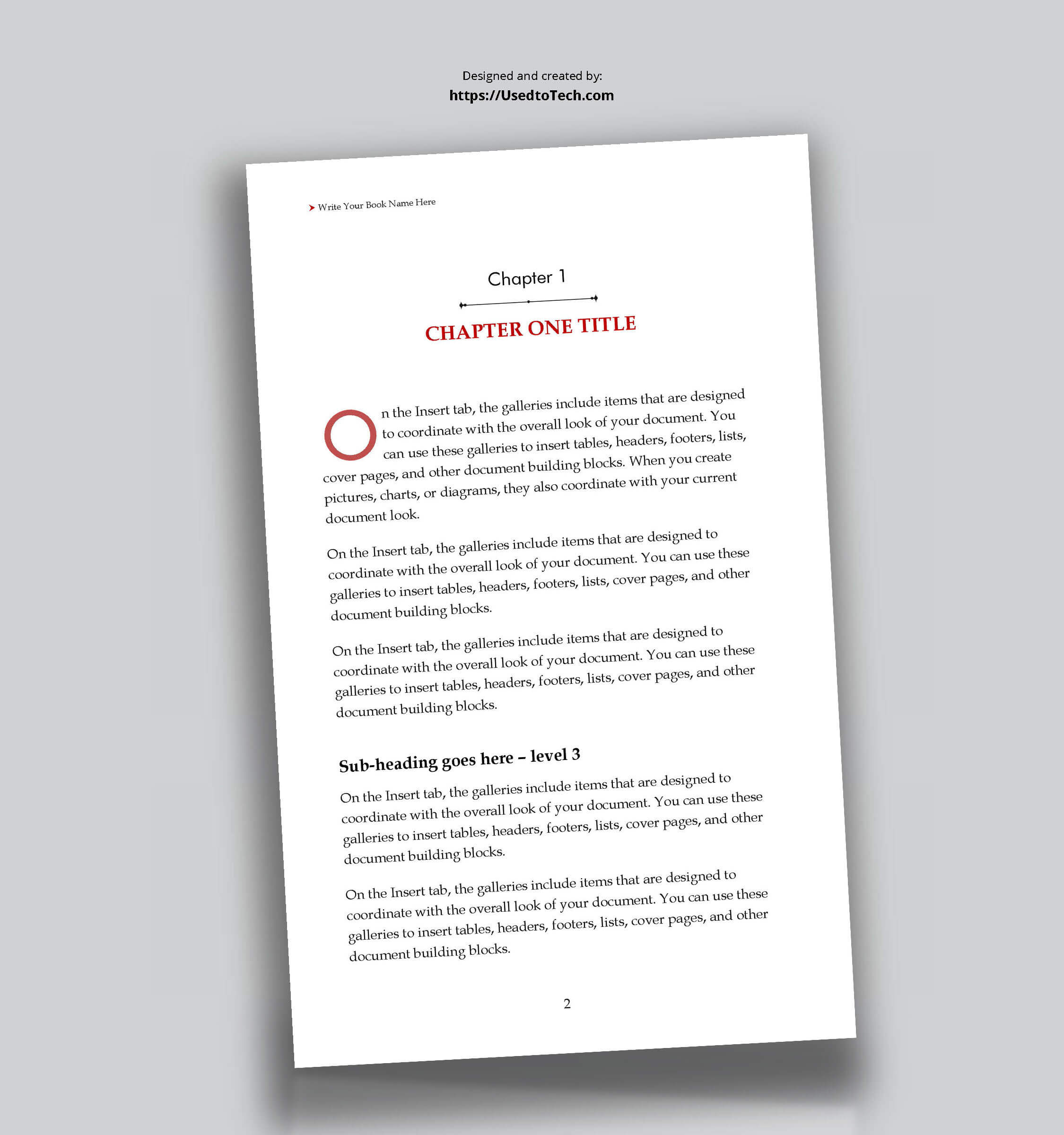 5 X 8 Editable Book Template In Word – Used To Tech With Regard To How To Create A Book Template In Word