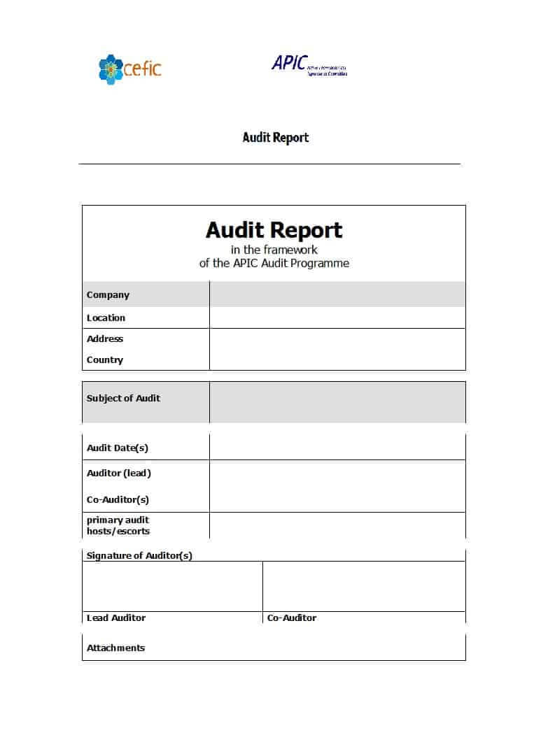 50 Free Audit Report Templates (Internal Audit Reports) ᐅ Within It Audit Report Template Word