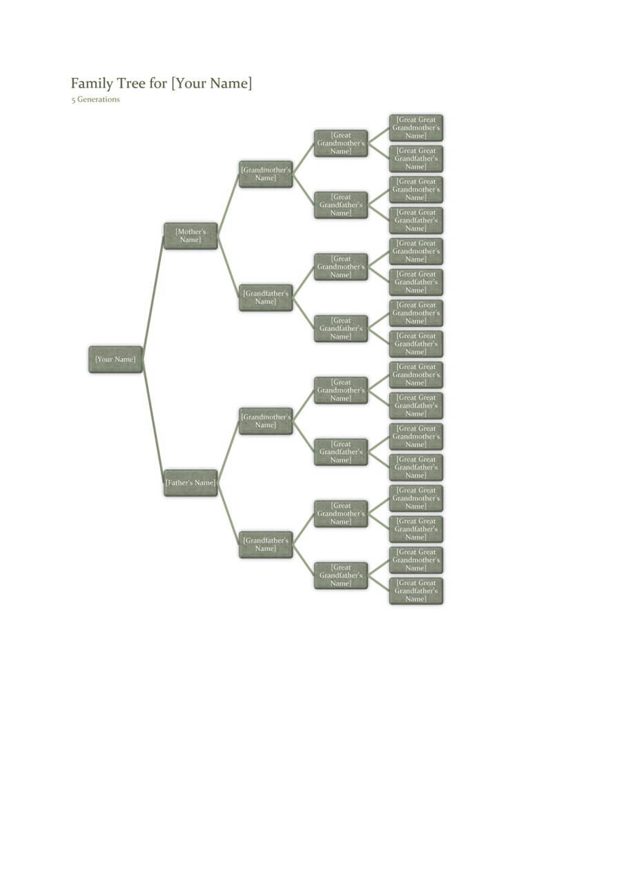 50+ Free Family Tree Templates (Word, Excel, Pdf) ᐅ Within 3 Generation Family Tree Template Word
