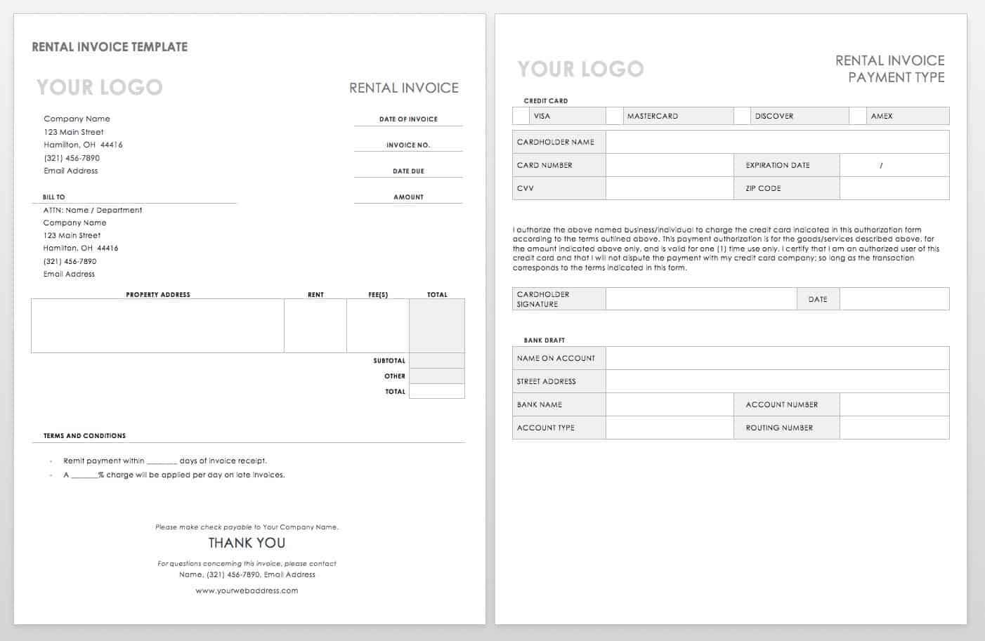 55 Free Invoice Templates   Smartsheet For Web Design Invoice Template Word