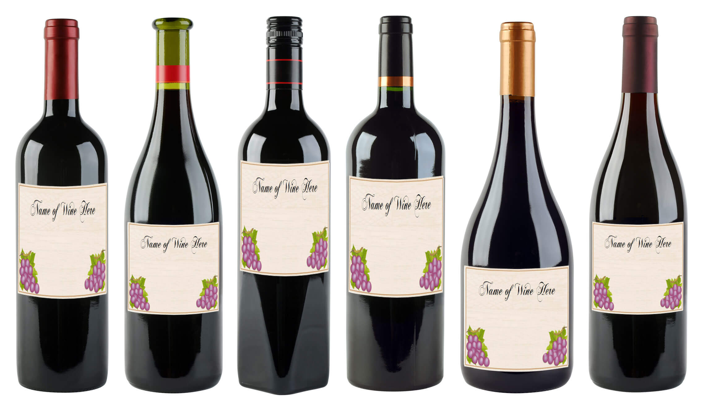 6 Free Printable Wine Labels You Can Customize   Lovetoknow For Blank Wine Label Template