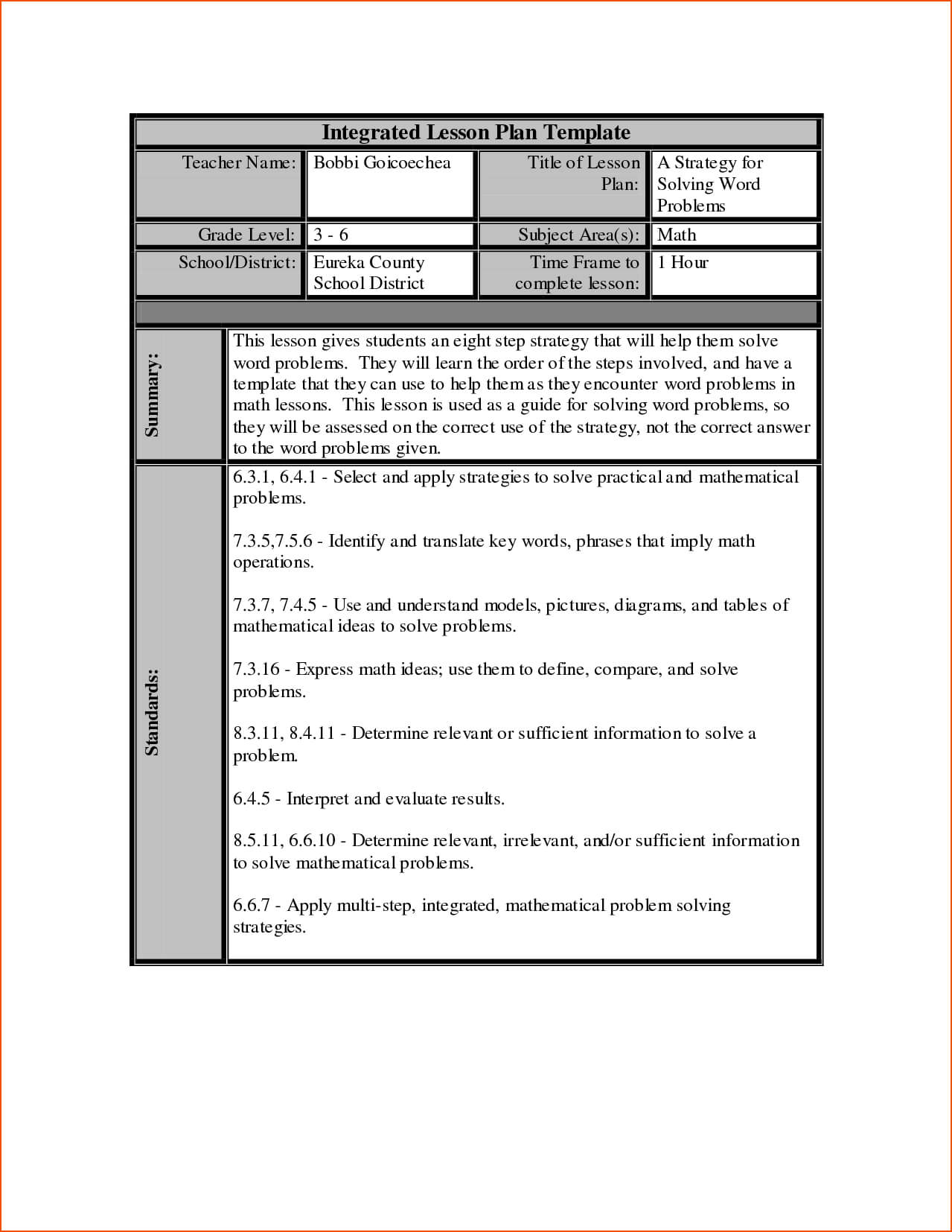 7+ Lesson Plan Template Word – Bookletemplate Inside Work Plan Template Word