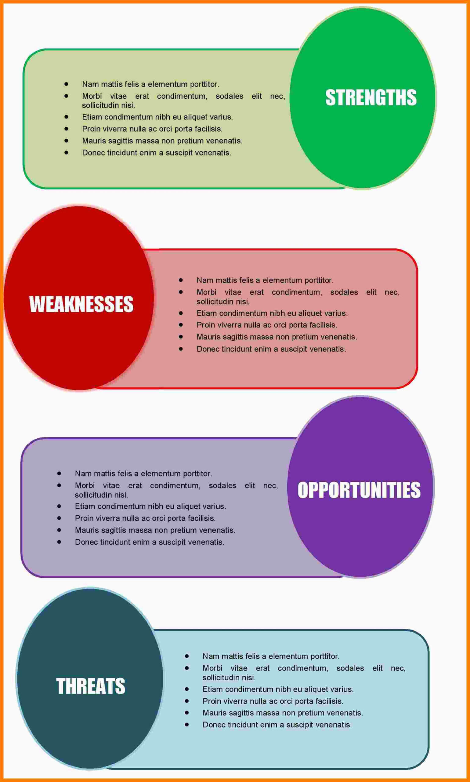 8+ Free Swot Analysis Template Microsoft Word | Marlows With Swot Template For Word