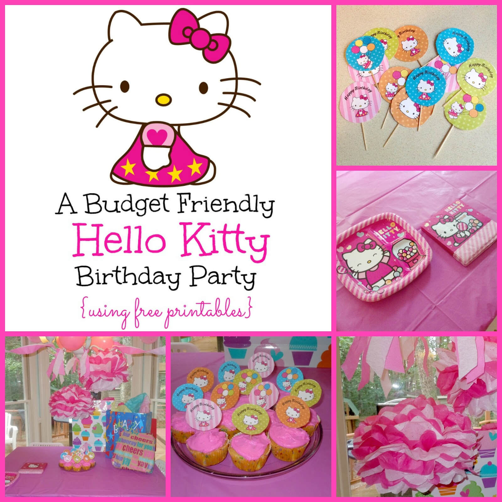 A Super Sweet Hello Kitty Birthday Party Using Free Printables Inside Hello Kitty Birthday Banner Template Free