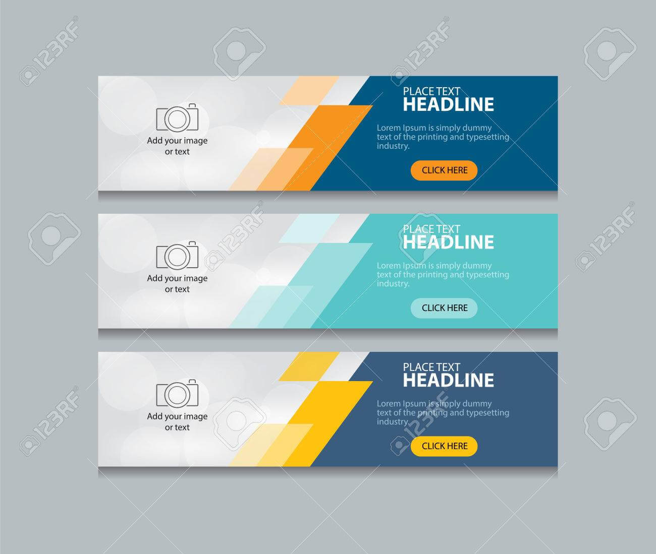 Abstract Web Banner Design Template Background Within Website Banner Design Templates