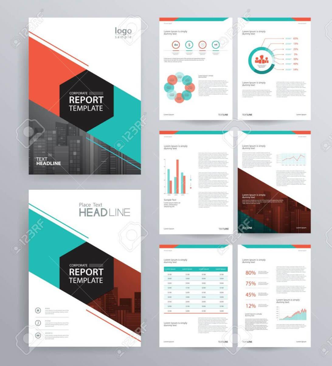 Annual Report Template Design For Company Profile Brochure In Hr Annual Report Template