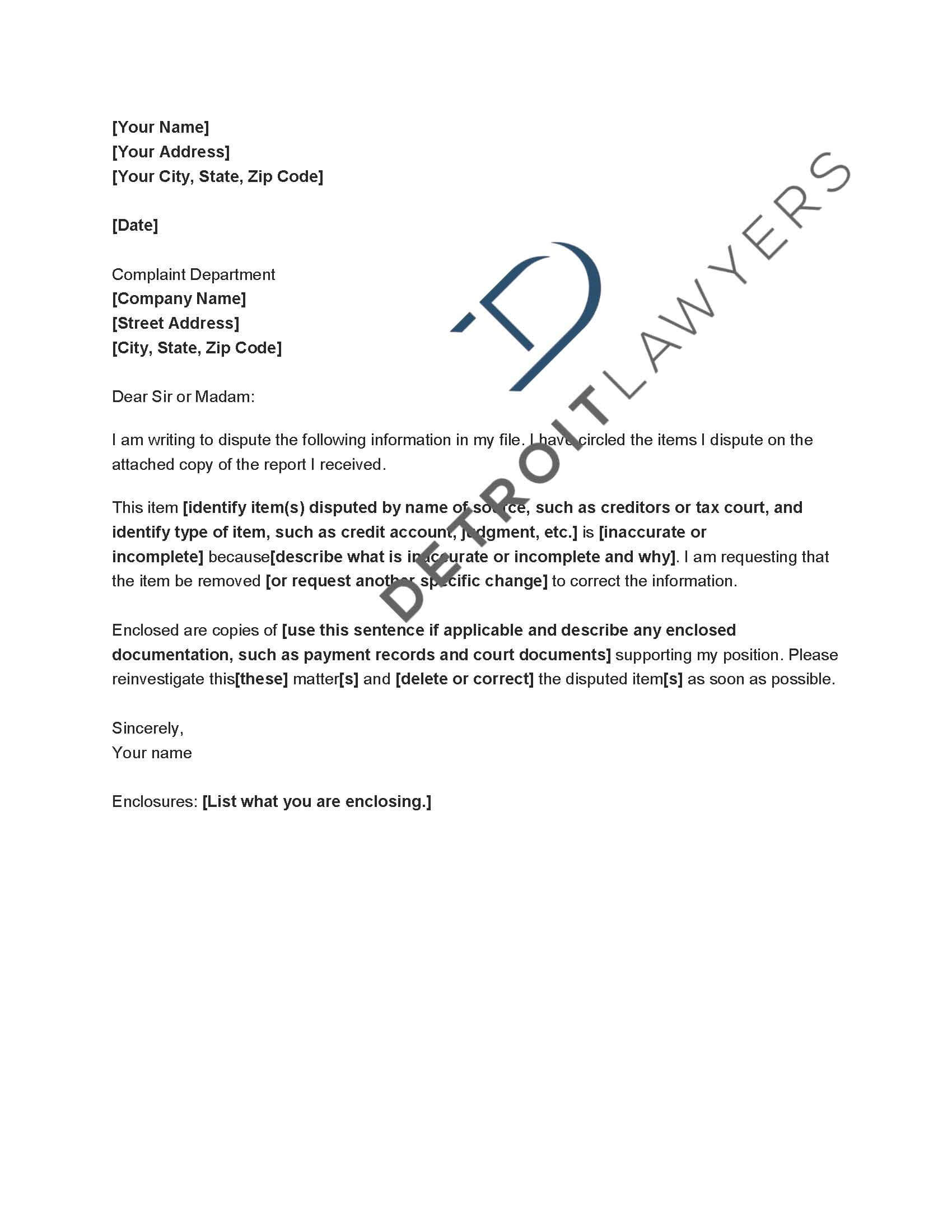 Application Letter Technical Support Customer Technical Within Credit Report Dispute Letter Template