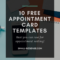 Appointment Card Template: 10 Free Resources For Small regarding Appointment Card Template Word