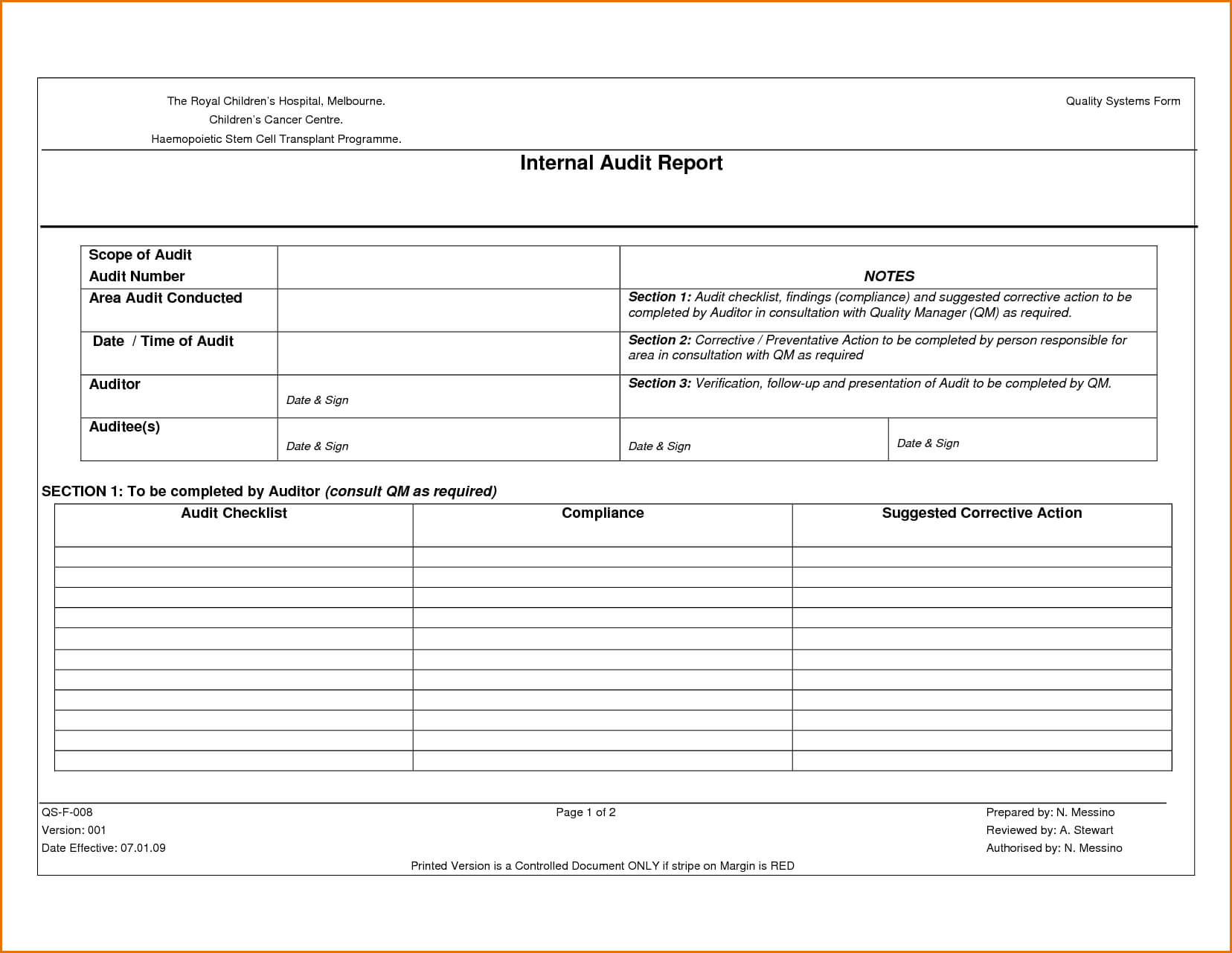 Audit Non Conformance Report Png It Sample Format Examples Throughout Non Conformance Report Template
