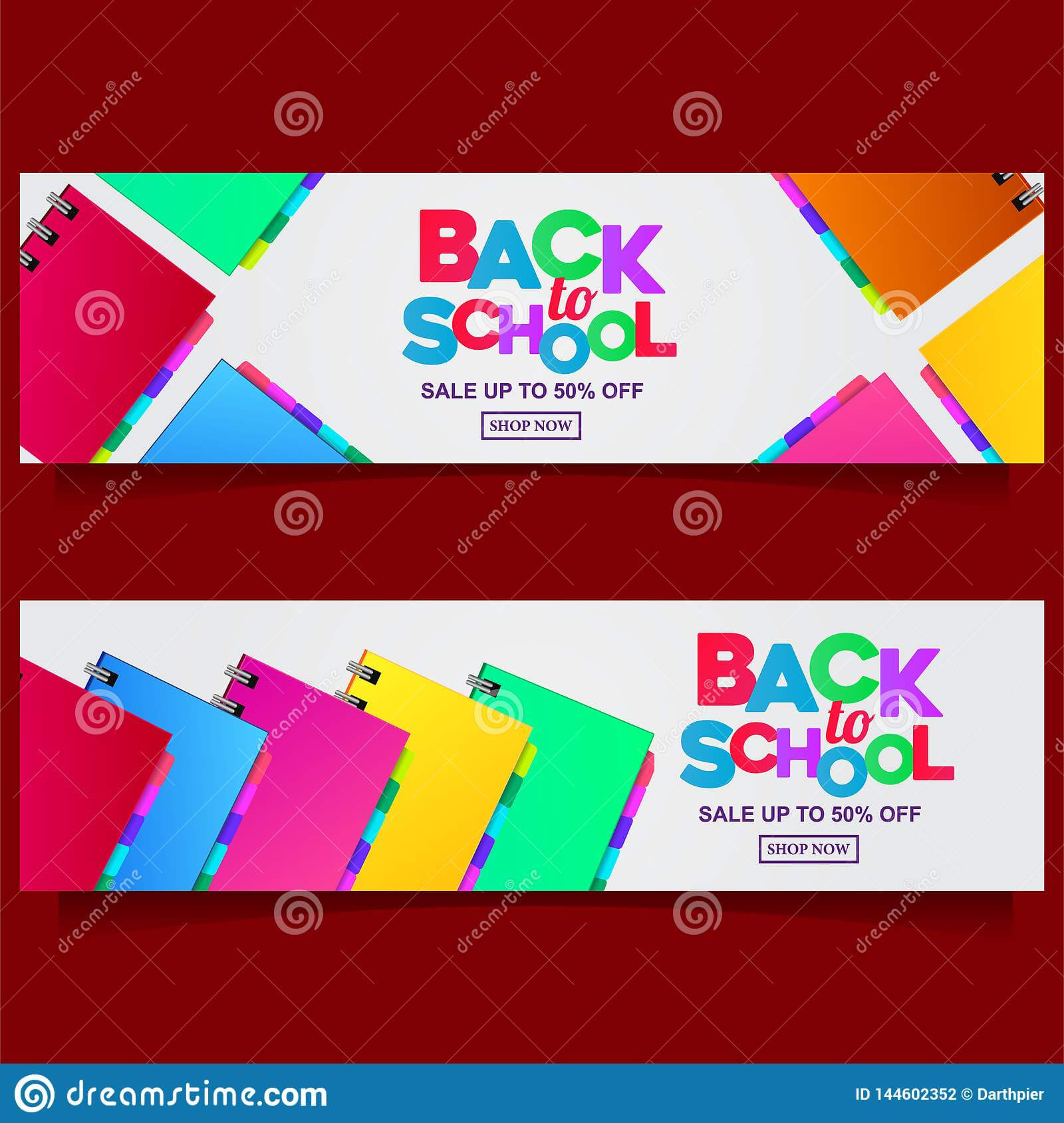 Back To School Colorful Text Banner Template With Stationary Pertaining To Classroom Banner Template