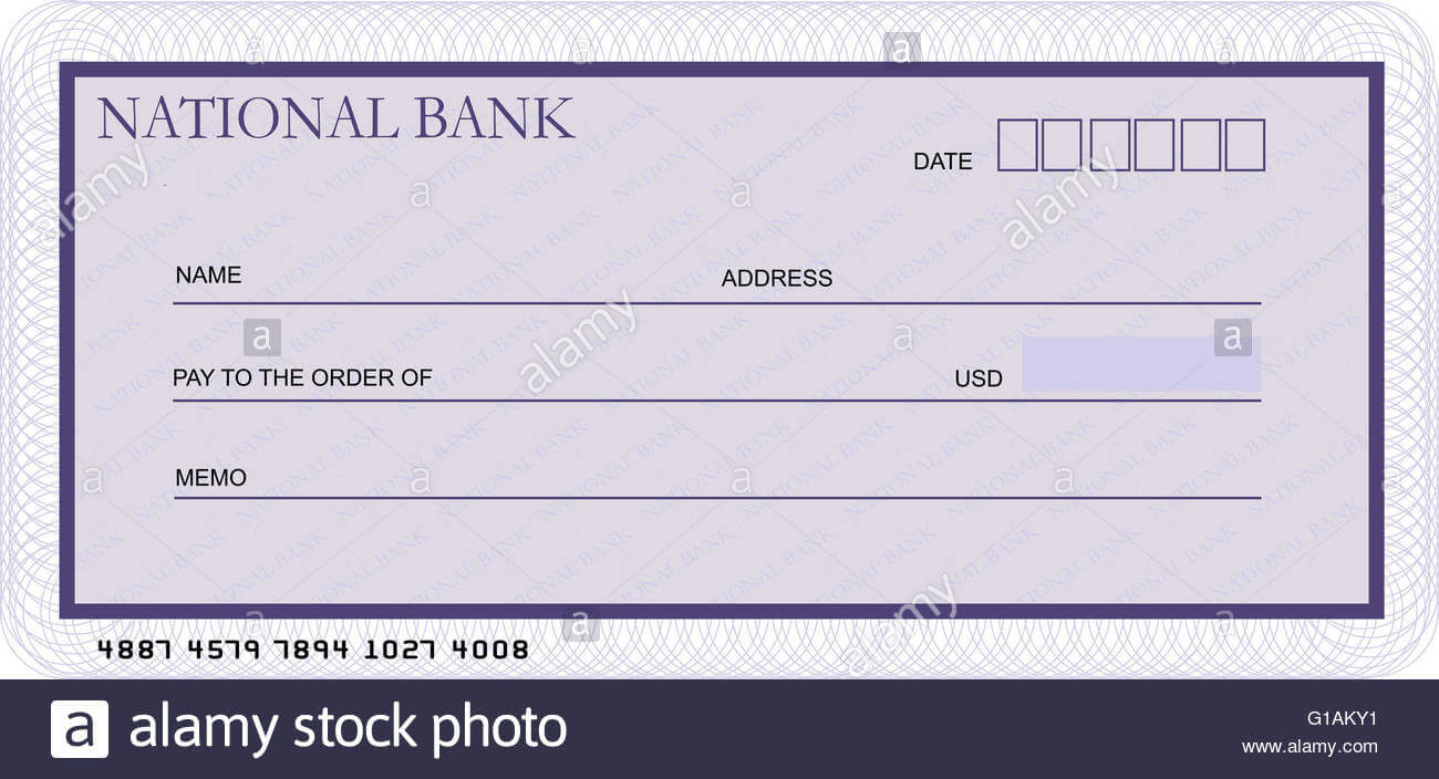 Bank Cheque Stock Photos & Bank Cheque Stock Images - Alamy Inside Blank Cheque Template Uk