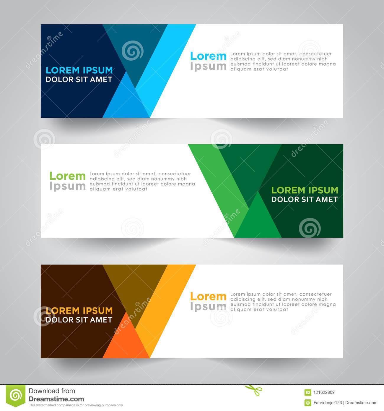 Banner Background. Modern Template Vector Design Stock Inside Website Banner Design Templates